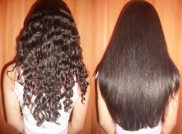 Результат кератинового выравнивания волос