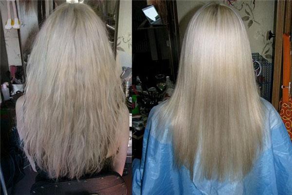 Волосы после салонной процедуры экранирования от Эстель