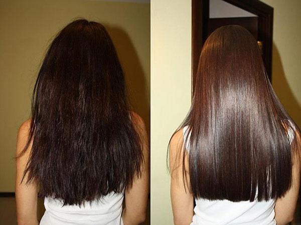 Результат экранирования волос