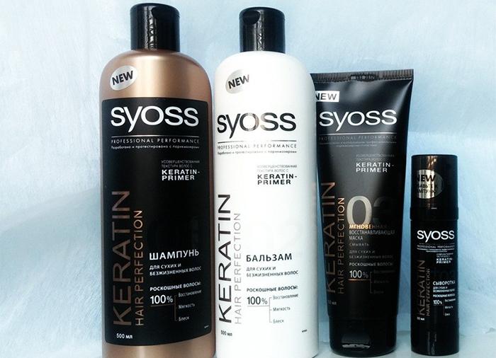 Средства по уходу за волосами Syoss с кератином