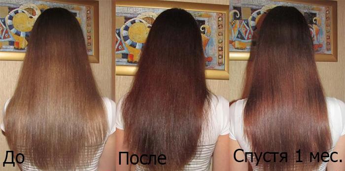 До и после тонирования волос