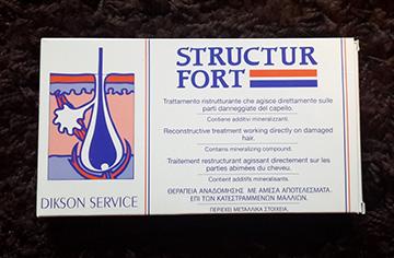 Ампулы Structur fort для волос