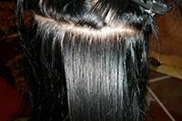Отрощенные волосы после УЗТ-наращивания