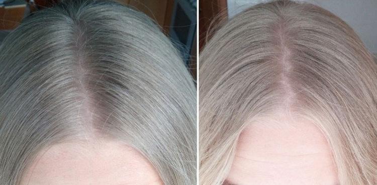 Волосы до и после осветления перекисью