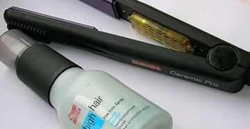 Средство защиты волос от термического воздействия