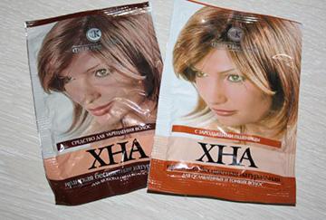 Пакетики с хной для волос