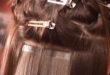 Прикрепление прядей ближе к корням волос