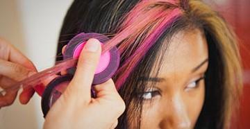 Окрашивание волос мелком