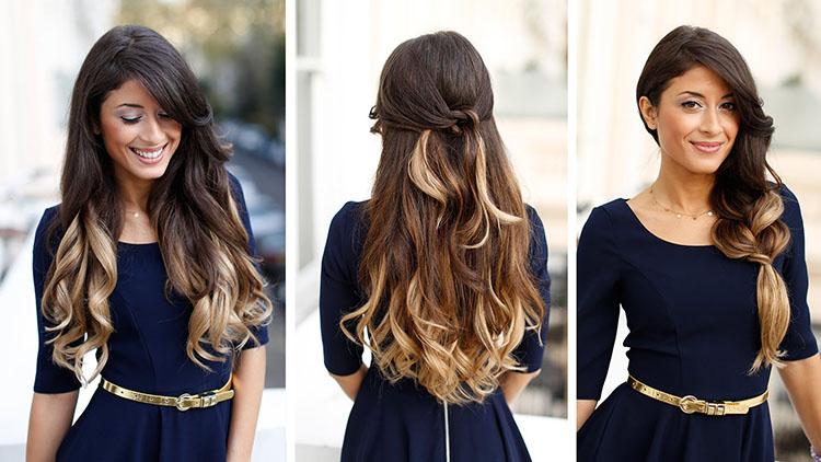 Волосы после осветления кончиков