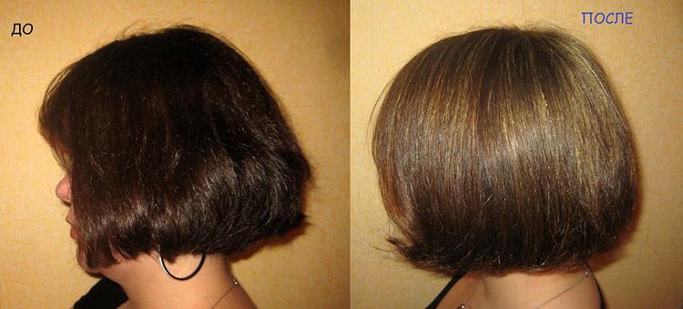 Волосы после мелирования