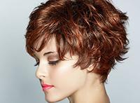 Окрашивание отдельных прядей на коротких темных волосах