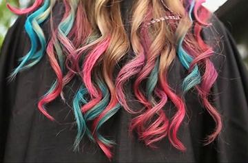 Разноцветные кончики