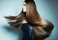 Блестящие и идеально ровные волосы