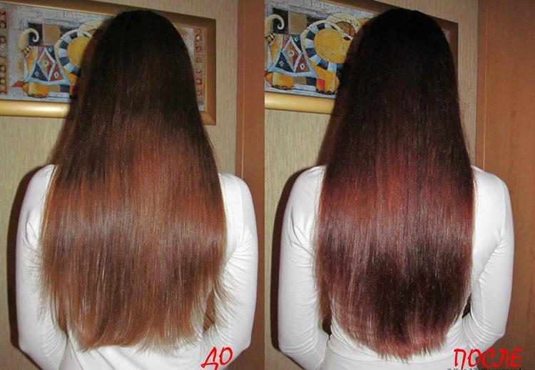 оттеночный шампунь на темных волосах
