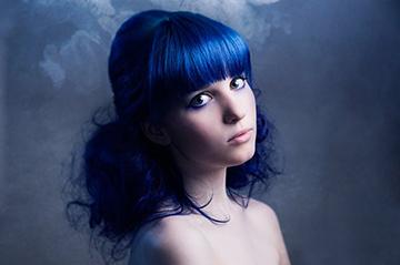 экстремальный оттенок волос