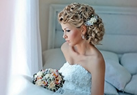 красивая прическа на средние волосы невесты