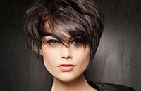Стрижка на коротких волосах
