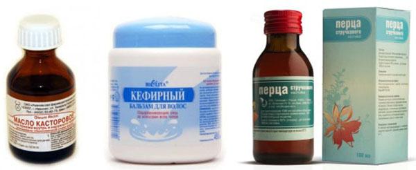 Ингредиенты для касторовой маски