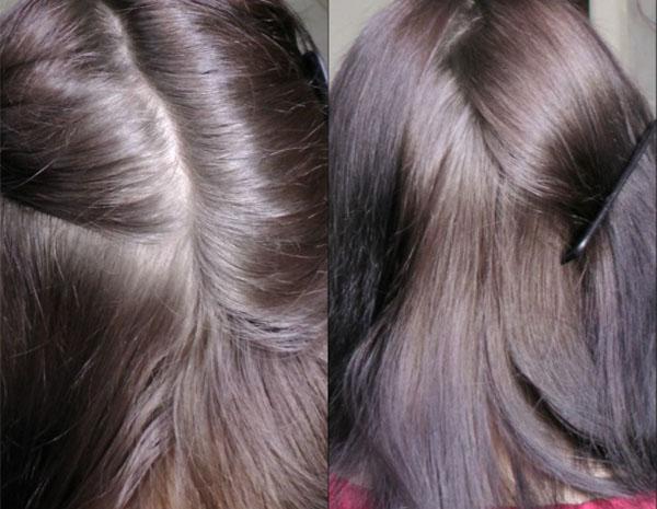 Волосы после использования витамина H
