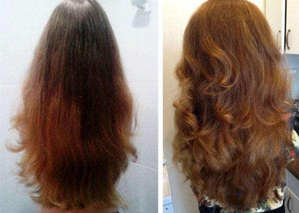 Увеличение густоты волос после применения биотина
