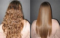 Волосы после кератинового выравнивания