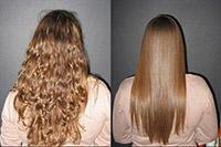 Результат бразильского кератинового выпрямления волос