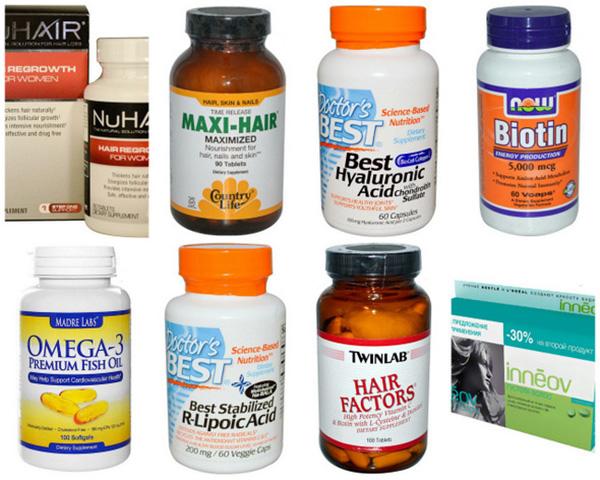 Витамины для волос от разных производителей