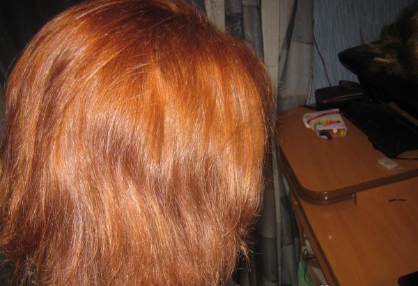 Волосы после окрашивания Гарньер Страстный янтарь