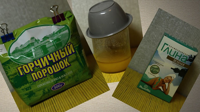 Компоненты маски для волос из зеленой глины