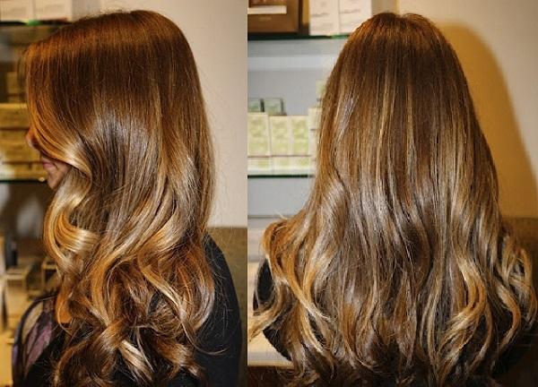 Результат брондирования темных волос