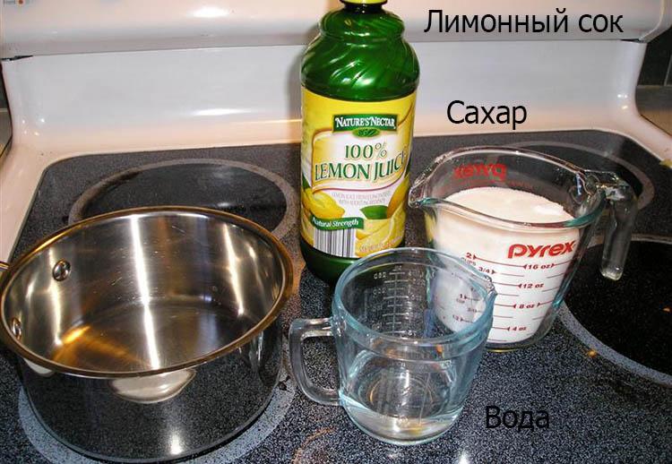 Ингредиенты для шугаринга