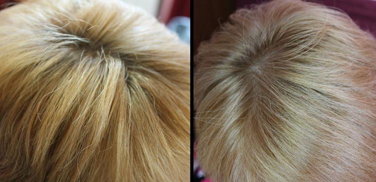 Волосы после окаршивания краской Сьес