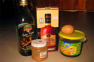 Ингредиенты маски для волос с добавлением коньяка