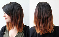 Теневое окрашивание темных волос