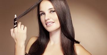 Гладкие волосы после ламинирования
