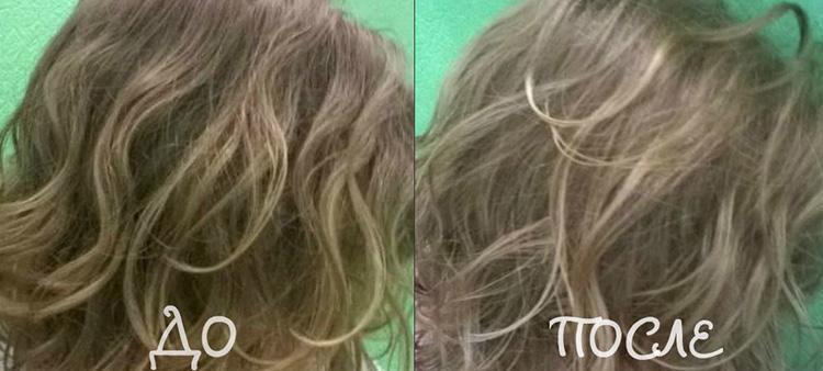 Волосы после осветления перекисью