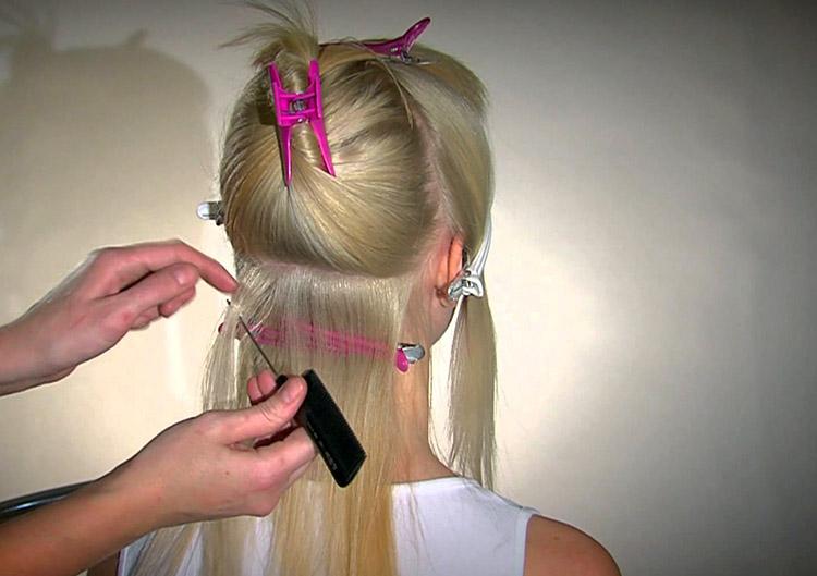 Холодный метод наращивания волос