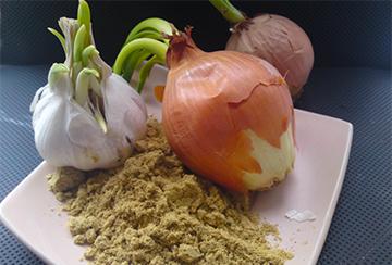 Ингредиенты для луковой маски с горчицей