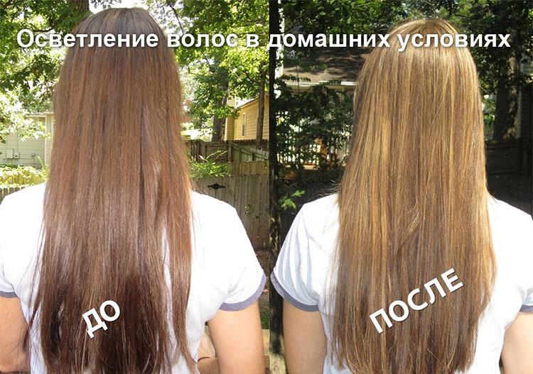 Волосы после домашнего осветления