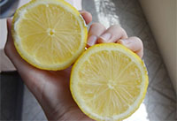 Лимон для осветления волос