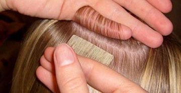 Наращивание волос на ленты
