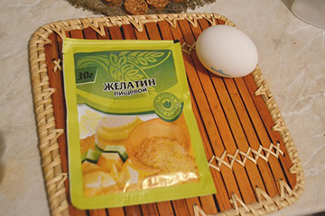 Пищевой желатин и яйцо