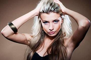 Частичное мелирование на длинных волосах