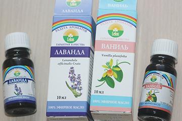Эфиры лаванды и ванили