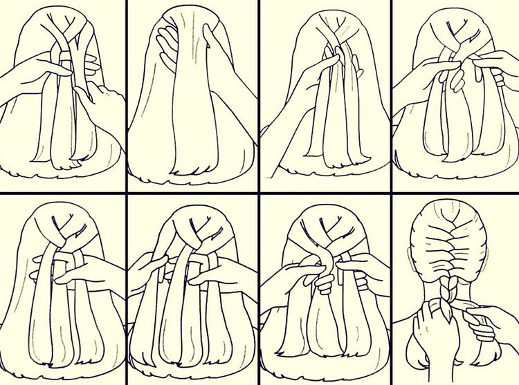 Коса - инструкция по плетению