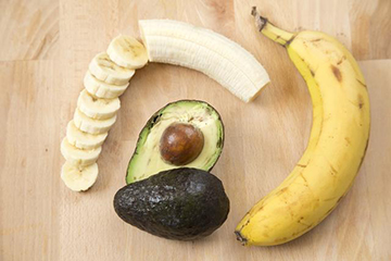 Банан с авокадо