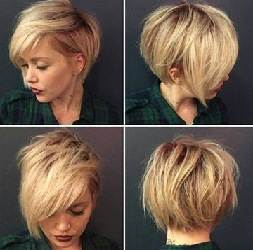 Пикси на средние волосы